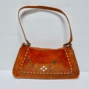 Vintage Western Floral Painted Leather Purse
